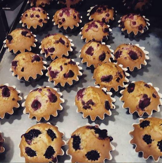 Muffins Vegans de fruits vermells