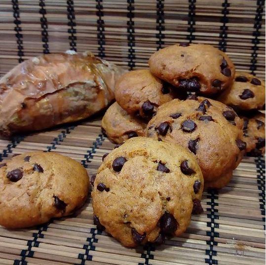 Cookies de boniato i xocolata veganes